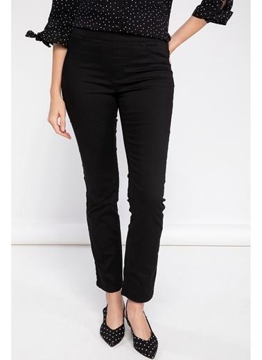 DeFacto Carmela Straight Fit Pantolon Siyah